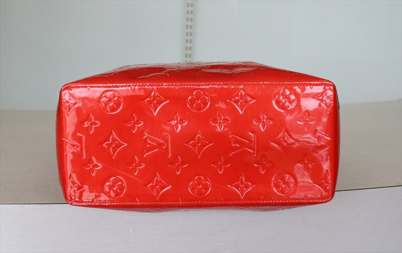 OUIS VUITTON READE MM Tote Bag Vernis Rouge