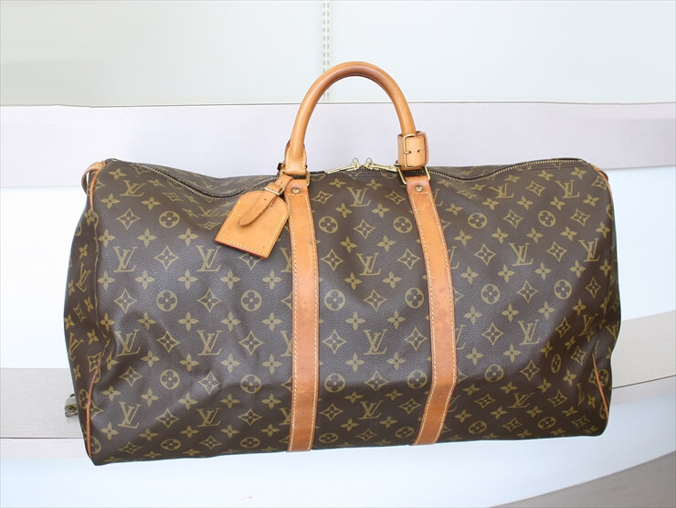 LOUIS VUITTON KEEPALL 55 Monogram Boston Bag