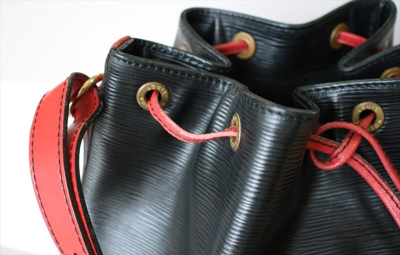 LOUIS VUITTON NOE EPI BLACK RED Bi-color