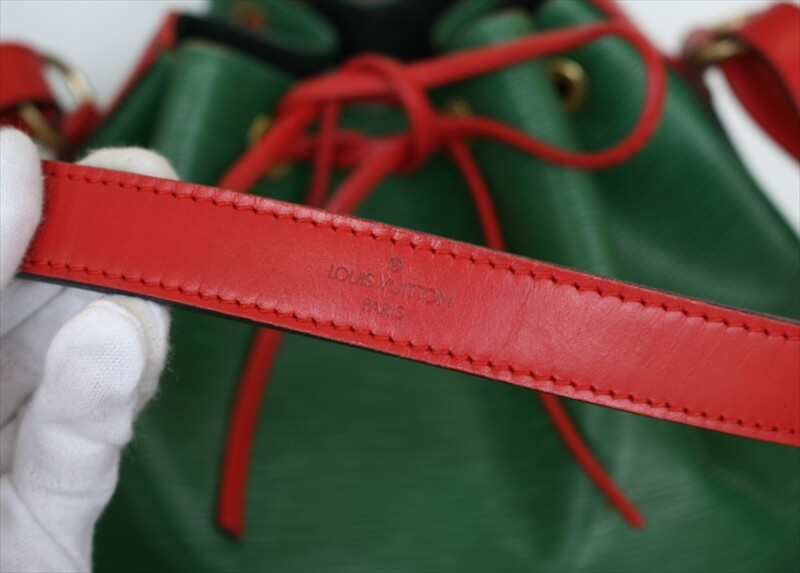 LOUIS VUITTON PETIT NOE Epi Bicolor Green Red