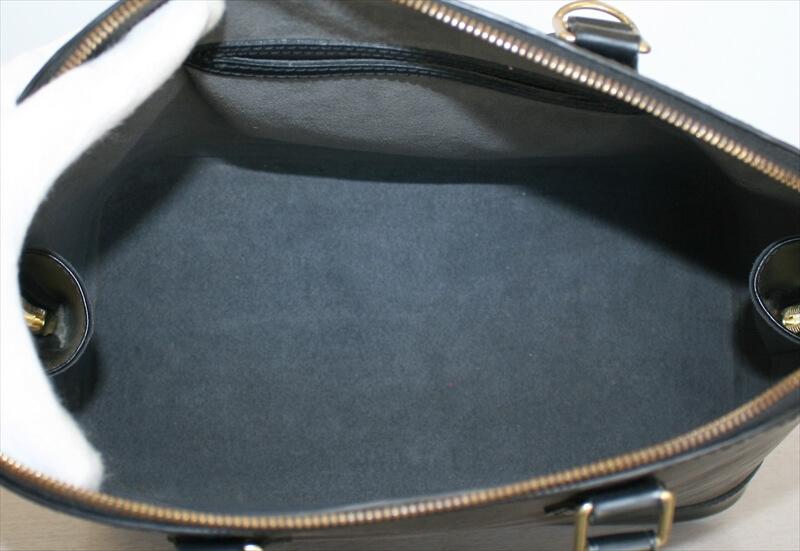 LOUIS VUITTON ALMA Epi Black Noir Handbag