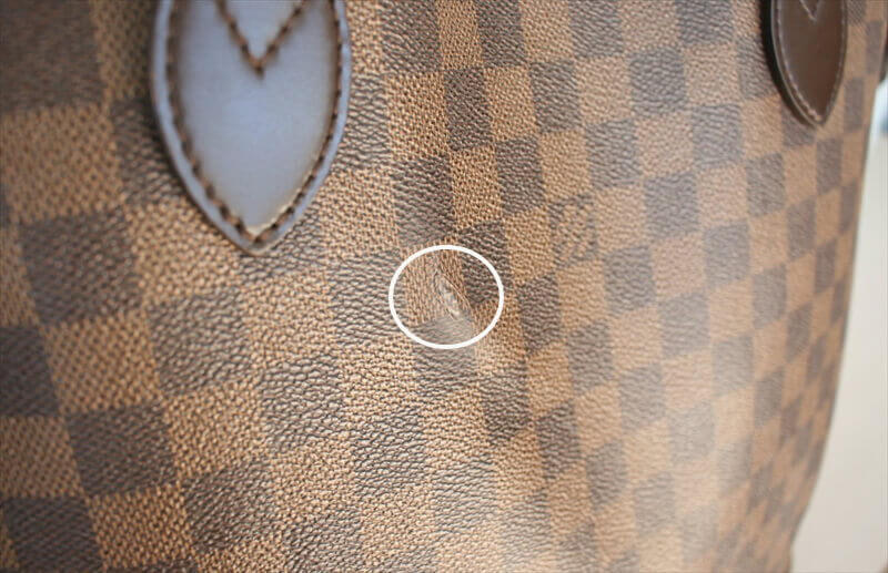 LOUIS VUITTON NEVERFULL MM Damier Ebene Tote Bag