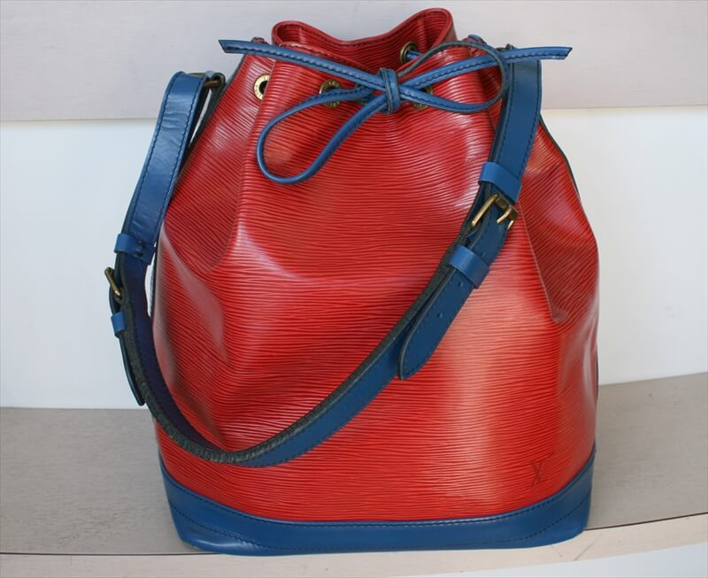 OUIS VUITTON NOE Epi Red Blue BICOLOR