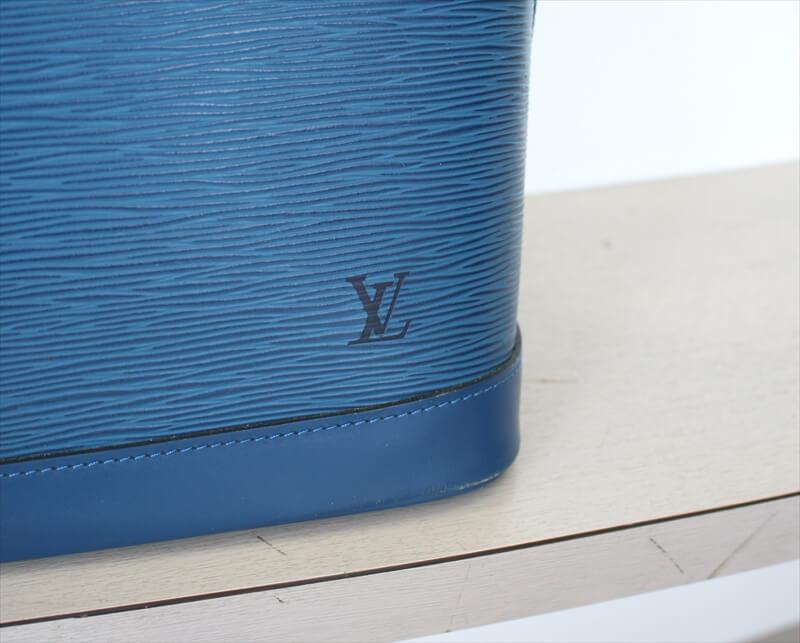 LOUIS VUITTON ALMA Epi Blue