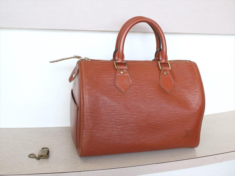 db315cad1c6c LOUIS VUITTON SPEEDY 25 Epi Brown Hand Bag No.883
