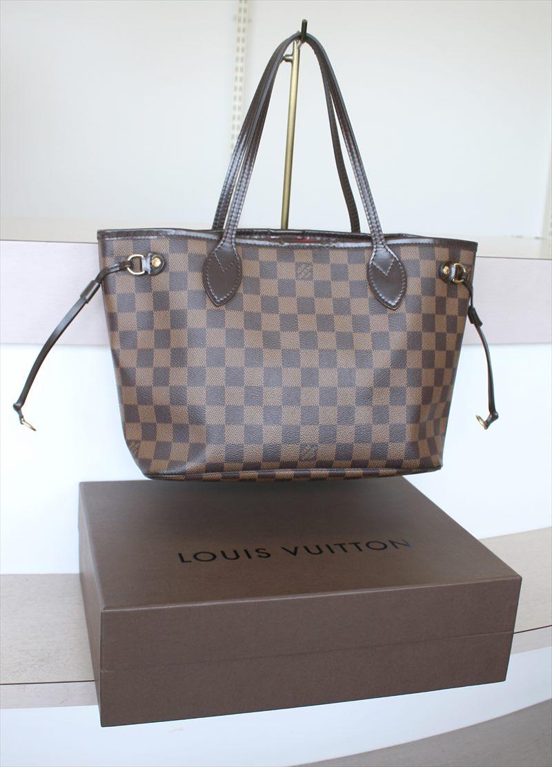 d1e5b7c3c218 LOUIS VUITTON NEVERFULL PM Damier Ebene Tote bag No.911