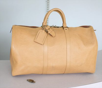 KEEPALL 50 Epi leather Beige