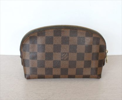 Cosmetic PM Pouch Damier Ebene